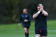 Dan Lydiate, the Wales rugby team captain during the Wales rugby team training session at the Vale Resort Hotel in Hensol, near Cardiff , South Wales on Thursday  16th November 2017.  the team are preparing for their Autumn International series match against Georgia this weekend.   pic by Andrew Orchard