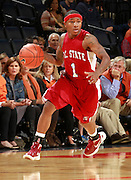 CHARLOTTESVILLE, VA- NOVEMBER 13: Khalif Toombs #1 of the South Carolina State Bulldogs handles the ball during the game on November 13, 2011 at the John Paul Jones Arena in Charlottesville, Virginia. Virginia defeated South Carolina State 75-38. (Photo by Andrew Shurtleff/Getty Images) *** Local Caption *** Khalif Toombs