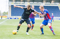 Falkirk's Joseph McKee and Inverness Caledonian Thistle's Carl Tremarco. Falkirk 0 v 0 Inverness Caledonian Thistle, Scottish Championship game played 14/10/2017 at The Falkirk Stadium.