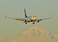 Westjet 737 sunset landing