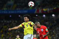 Colombia's Johan Mojica during the 1/8 final game between Colombia and England at the 2018 FIFA World Cup in Moscow, Russia on July 3, 2018. Photo by Lionel Hahn/ABACAPRESS.COM