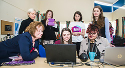 Pictured: Ms Watt joined Sarah Taylor, Research Nurse TEC project and BEAT Ambassadoe Ballari Conner on the laptops<br /> Today Mental Health Minister Maureen Watt vsiisted the Royal Hospital in Edinburgh to help aunch the online resource aimed at young people in this Eating Disorders Awareness Week, While thee she met two two Beat ambassadors, Constance Barter and Ballari Conner<br /> <br /> Ger Harley   EEm 28 Fbruary 2018