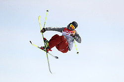 USA'S McRae Williams in action during the qualification runs of the Men's Ski Slopestyle at the Bogwang Snow Park during day nine of the PyeongChang 2018 Winter Olympic Games in South Korea. PRESS ASSOCIATION Photo. Picture date: Sunday February 18, 2018. See PA story OLYMPICS Slopestyle. Photo credit should read: Mike Egerton/PA Wire. RESTRICTIONS: Editorial use only. No commercial use.