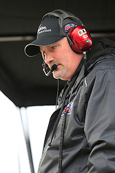 February 23, 2019 - Hampton, GA, U.S. - HAMPTON, GA - FEBRUARY 23:   Crew Chief Mike Hillman, Jr. of the #18 truck looks on during the 11th running of the Ultimate Tailgating 200 NASCAR Gander Outdoors Truck Series race on February 23, 2019 at the Atlanta Motor Speedway in Hampton, GA.  (Photo by David J. Griffin/Icon Sportswire) (Credit Image: © David J. Griffin/Icon SMI via ZUMA Press)