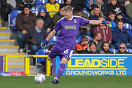 AFC Wimbledon goalkeeper Aaron Ramsdale (35) clearing the ball during the EFL Sky Bet League 1 match between AFC Wimbledon and Doncaster Rovers at the Cherry Red Records Stadium, Kingston, England on 9 March 2019.