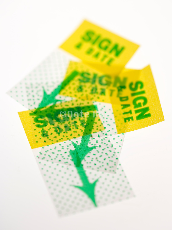 sign and date stickers