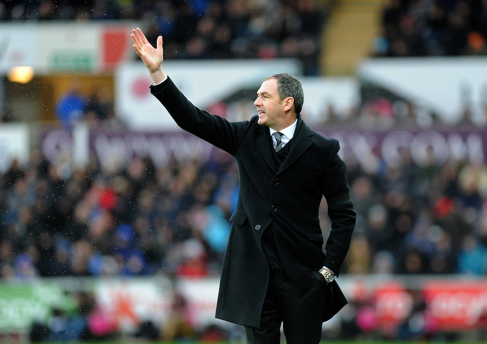 Swansea City manager Paul Clement in action<br /> <br /> Photographer /Ashley Crowden CameraSport<br /> <br /> The Premier League - Swansea City v Arsenal  - Saturday 14th January 2017 - Liberty Stadium - Swansea <br /> <br /> World Copyright © 2017 CameraSport. All rights reserved. 43 Linden Ave. Countesthorpe. Leicester. England. LE8 5PG - Tel: +44 (0) 116 277 4147 - admin@camerasport.com - www.camerasport.com