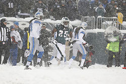 Philadelphia Eagles running back LeSean McCoy #25 trots back to the line of scrimmage after a play during the NFL game between the Detroit Lions and the Philadelphia Eagles on Sunday, December 8th 2013 in Philadelphia. The Eagles won 34-20. (Photo by Brian Garfinkel)