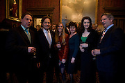 TOM LAWSON, EMILY LAWSON, NIGEL LAWSON, HORATIA LAWSON, NIGELLA LAWSON AND DOMINIC LAWSON, Book launch for AN APPEAL TO REASON, A Cool Look at Global Warming by Nigel Lawson. Hosted by NIGELLA LAWSON, DUCKWORTH PUBLISHERS and ED VICTOR LTD.<br />The Garrick Club. London. 16 April 2008.  *** Local Caption *** -DO NOT ARCHIVE-© Copyright Photograph by Dafydd Jones. 248 Clapham Rd. London SW9 0PZ. Tel 0207 820 0771. www.dafjones.com.