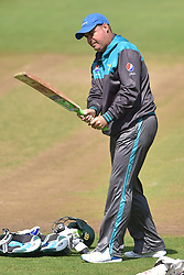 Pakistan coach Mickey Arthur during the nets session at Cardiff Wales Stadium.