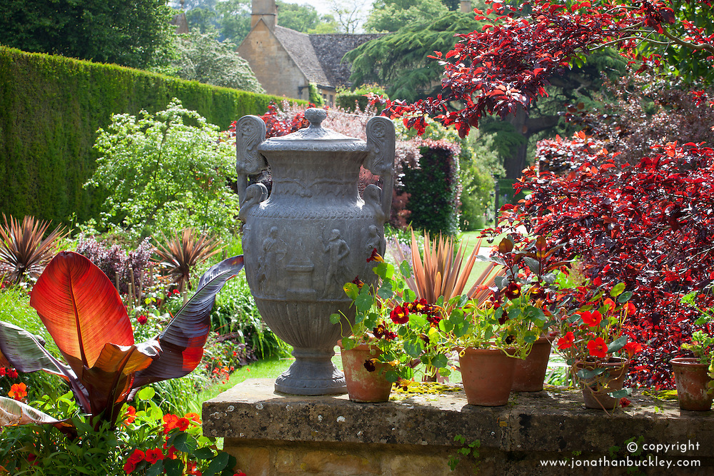 The Red Borders at Hidcote Manor garden in June