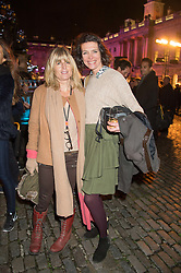 Left to right, RACHEL JOHNSON and THOMASINA MIERS at the launch of Skate at Somerset House in association with Fortnum & Mason held at Somerset House, The Strand, London on 17th November 2015.