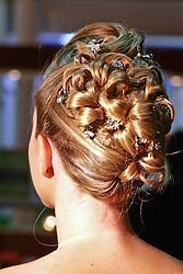 Look de penteado na Hair Brasil 2008, maior evento de beleza da América Latina, realizado no Expo Center Norte, na zona norte de São Paulo. FOTO: J. R. Comodo / Preview.com