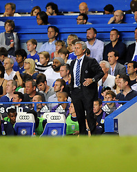 "Chelsea Manager, Jose Mourinho  - Photo mandatory by-line: Joe Meredith/JMP - Tel: Mobile: 07966 386802 21/08/2013 - SPORT - FOOTBALL - Stamford Bridge - London - Chelsea V Aston Villa - Barclays Premier League - EDITORIAL USE ONLY. No use with unauthorised audio, video, data, fixture lists, club/league logos or ""live"" services. Online in-match use limited to 45 images, no video emulation. No use in betting, games or single club/league/player publications"