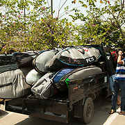 Just landed In Padang and loaded all the boards. Heading to  the boat for a 4hrs ride to Kandui, Mentawais Islands, Indonesia March  19, 2013.