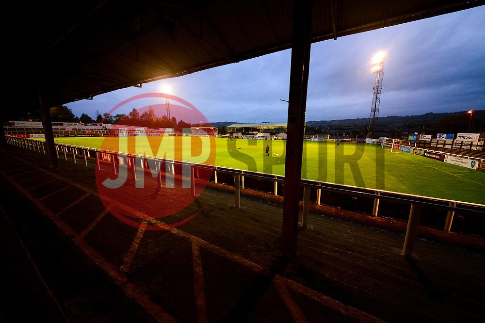 A general view of Twerton Park - Mandatory by-line: Dougie Allward/JMP - 07/10/2020 - FOOTBALL - Twerton Park - Bath, England - Bristol City Women v London Bees - FA Continental Cup