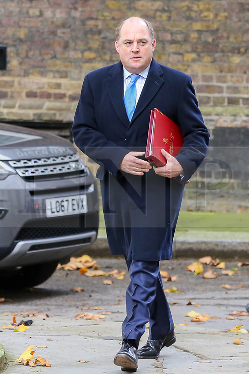 © Licensed to London News Pictures. 16/10/2019. London, UK. Secretary of State for Defence BEN WALLACE arrives in Downing Street to attend the weekly cabinet meeting. This week's cabinet meeting was postponed by one day on Tuesday 15 October amid a final push for a Brexit agreement that can be sealed in time for the European Council summit in Brussels on Thursday and Friday. Photo credit: Dinendra Haria/LNP