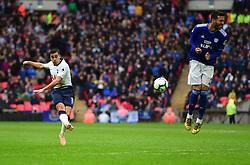Harry Winks of Tottenham Hotspur shoots at goal. - Mandatory by-line: Alex James/JMP - 06/10/2018 - FOOTBALL - Wembley Stadium - London, England - Tottenham Hotspur v Cardiff City - Premier League