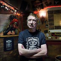 Nederland, Amsterdam , 26 februari 2013.<br /> Jur Scherpenzeel, oprichter van 'juke joint' of Amsterdam: Maloe Melo.<br /> Foto:Jean-Pierre Jans