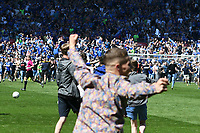 Football - 2017 / 2018 Sky Bet Championship - Cardiff City vs. Reading<br /> <br /> Cardiff fans invade the pitchatthe end of the game,as they are promoted to the Premier League at Cardiff City Stadium.<br /> <br /> COLORSPORT/WINSTON BYNORTH