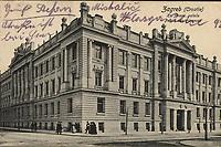 Zagreb : Kr. financ. palača = Palais des finances. <br /> <br /> ImpresumZagreb : Naklada Jul. Hühna, [1910].<br /> Materijalni opis1 razglednica : tisak ; 8,8 x 13,9 cm.<br /> NakladnikJulije Hühn<br /> Mjesto izdavanjaZagreb<br /> Vrstavizualna građa • razglednice<br /> ZbirkaGrafička zbirka NSK • Zbirka razglednica<br /> Formatimage/jpeg<br /> PredmetZagreb –– Ulica Ljudevita Gaja • Zagreb –– Ulica Matije Petra Katančića • Zagreb –– Ulica Baruna Franje Trenka<br /> SignaturaRZG-TRENK-4<br /> Obuhvat(vremenski)20. stoljeće<br /> NapomenaRazglednica je putovala 1910. godine. • Zgrada Financijskog kraljevstva podignuta je 1901/1902. godine prema projektu mađarskog arhitekta Lajosa Zobela.<br /> PravaJavno dobro<br /> Identifikatori000954937<br /> NBN.HRNBN: urn:nbn:hr:238:253960 <br /> <br /> Izvor: Digitalne zbirke Nacionalne i sveučilišne knjižnice u Zagrebu