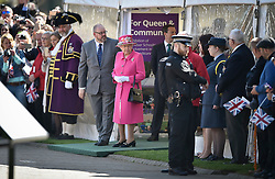 © Licensed to London News Pictures. 20/04/2016. QUEEN ELIZABETH II officially opening the new bandstand at Alexandra Gardens in Windosr on the eve of her 90th birthday. Photo credit: Hannah McKay/LNP
