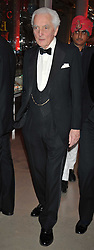 The EARL OF AIRLIE at a dinner to celebrate the opening of 'Maharaja - The Spendour of India's Royal Courts' an exhbition at the V&A, London on 6th October 2009.
