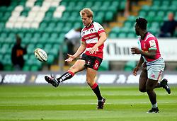 Tom Hudson of Gloucester Rugby kicks the ball - Mandatory by-line: Robbie Stephenson/JMP - 28/07/2017 - RUGBY - Franklin's Gardens - Northampton, England - Harlequins v Gloucester Rugby - Singha Premiership Rugby 7s