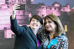 The results of the European Parliamentary Elections for the Scotland Region are announced at the City Chambers in Edinburgh. Scotland's six new MEPs will be the SNP's Alyn Smith, Christian Allard and Aileen McLeod, Louis Stedman-Bruce of the Brexit Party, Sheila Ritchie of the Liberal Democrats and Baroness Nosheena Mobarik of the Conservatives.<br /> <br /> Pictured: Scottish Conservatives leader Ruth Davidson with Baroness Nosheena Mobarik
