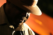 Blues artist and guitar player Daddy Mack in Memphis.