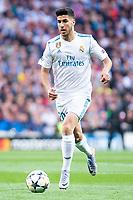 Real Madrid Marco Asensio during Semi Finals UEFA Champions League match between Real Madrid and Bayern Munich at Santiago Bernabeu Stadium in Madrid, Spain. May 01, 2018. (ALTERPHOTOS/Borja B.Hojas)