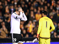 Valencia's Antonio Barragan and Real Madrid's Keylor Navas during La Liga match. January 3, 2016. (ALTERPHOTOS/Javier Comos)