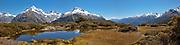 alpine tarn, Fiordland National Park, New Zealand