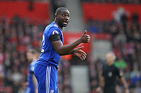 Football - 2018 / 2019 Premier League - Southampton vs. Cardiff City<br /> <br /> Captain Sol Bamba of Cardiff City gives a thumbs up during the Premier League match at St Mary's Stadium Southampton <br /> <br /> COLORSPORT/SHAUN BOGGUST