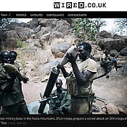 """Screengrab of """"SPLA-North rebel fighters"""" published in WIRED magazine UK"""