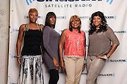 (L-R) Portraits of Traci Braxton, Towanda Braxton, Evelyn Braxton and Trina Braxton of WE tv's 'Braxton Family Values at SiriusXM Studios, NYC. August 16, 2012. Copyright © 2012 Matthew Eisman. All Rights Reserved.