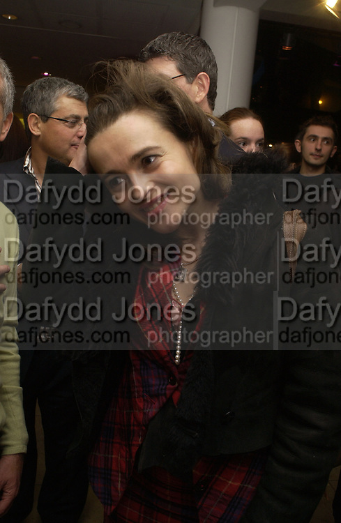 """HELENA BONHAM-CARTER . World Premiere of the theatrical production of """"Edward Scissorhands"""" at Sadler's Wells Theatre in London. 30 November 2005. ONE TIME USE ONLY - DO NOT ARCHIVE  © Copyright Photograph by Dafydd Jones 66 Stockwell Park Rd. London SW9 0DA Tel 020 7733 0108 www.dafjones.com"""