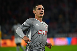 November 6, 2019, Munich, Germany: Daniel Podence from Olympiacos seen in action during the UEFA Champions League group B match between Bayern and Olympiacos at Allianz Arena in Munich. (Credit Image: © Bruno De Carvalho/SOPA Images via ZUMA Wire)