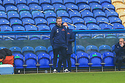 Daryl McMahon manager of Dagenham & Redbridge  during the The FA Cup match between Mansfield Town and Dagenham and Redbridge at the One Call Stadium, Mansfield, England on 29 November 2020.
