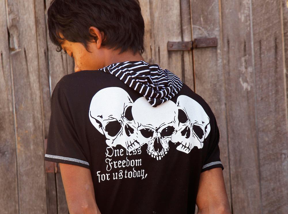 Political protest T shirt. Myanmar