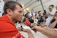 Alex Frei bei der Pressekonferenz. © Valeriano Di Domenico/EQ Images