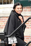 Politieke prominenten wonen de uitvoering van de Matthaus Passion bij in de Grote Kerk in Naarden. <br /> <br /> Op de foto:  Laetitia Griffith