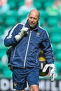 Paul Mathers, goalkeeping coach of St Johnstone FC during the warm up before the SPFL Premiership match between Hibernian and St Johnstone at Easter Road Stadium, Edinburgh, Scotland on 1 May 2021.