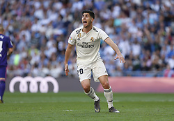 March 16, 2019 - Madrid, Madrid, Spain - Real Madrid CF's Marco Asensio seen reacting during the Spanish La Liga match round 28 between Real Madrid and RC Celta Vigo at the Santiago Bernabeu Stadium in Madrid. (Credit Image: © Manu Reino/SOPA Images via ZUMA Wire)