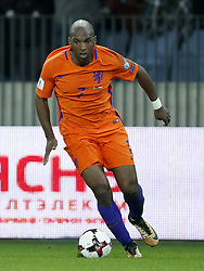 Ryan Babel of Holland during the FIFA World Cup 2018 qualifying match between Belarus and Netherlands on October 07, 2017 at Borisov Arena in Borisov,  Belarus