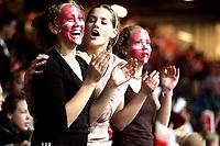 Håndball 13/01-07<br />Stavanger<br />VM oppkjøring Norge Portugal<br />Foto: Sigbjørn Andreas Hofsmo, Digitalsport<br /><br />Norske supportere med malte flagg i ansiktet
