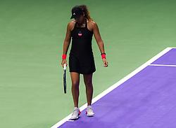 October 26, 2018 - Kallang, SINGAPORE - Naomi Osaka of Japan in action during her third match at the 2018 WTA Finals tennis tournament (Credit Image: © AFP7 via ZUMA Wire)