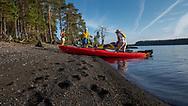 JÄMTLAND 2020<br /> Kajaktur runt Bynäset tillsammans med Ellinor, Anna, Kjell och Christer. Dags för fikapaus på Bynäset.<br /> <br /> Foto: Per Danielsson/Projekt.P