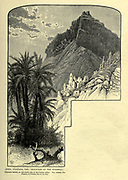 "Jebel Tahuneh ""Mountain of the windmill"" Wood engraving of from 'Picturesque Palestine, Sinai and Egypt' by Wilson, Charles William, Sir, 1836-1905; Lane-Poole, Stanley, 1854-1931 Volume 4. Published in 1884 by J. S. Virtue and Co, London"