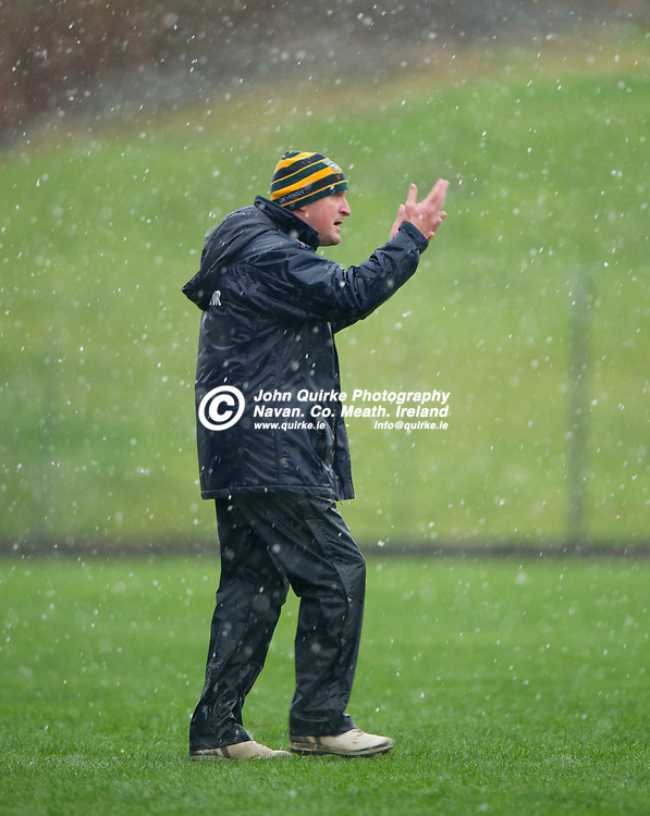 03-03-19. Meath v Kildare - Allianz NFL Division 2 Round 5 at Pairc Tailteann, Navan.<br /> Andy McEntee, Meath Manager.<br /> Photo: John Quirke / www.quirke.ie<br /> ©John Quirke Photography, Unit 17, Blackcastle Shopping Cte. Navan. Co. Meath. 046-9079044 / 087-2579454.